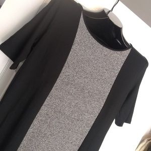 J.Jill Wearever Black and Gray Maxi Dress